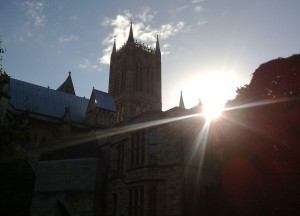 Lincoln Cathedral looking at the Wren Library #FindBritain September 2010