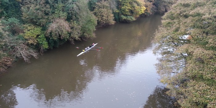 Coxed four on the river at Durham