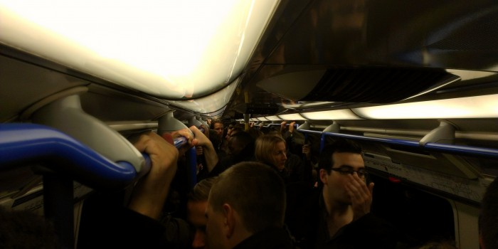 Crowded tube – London Underground