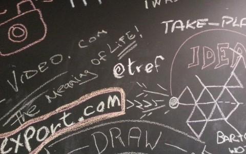 blackboard at Google campus