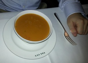 Soup and fork