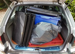 A car full of rubbish