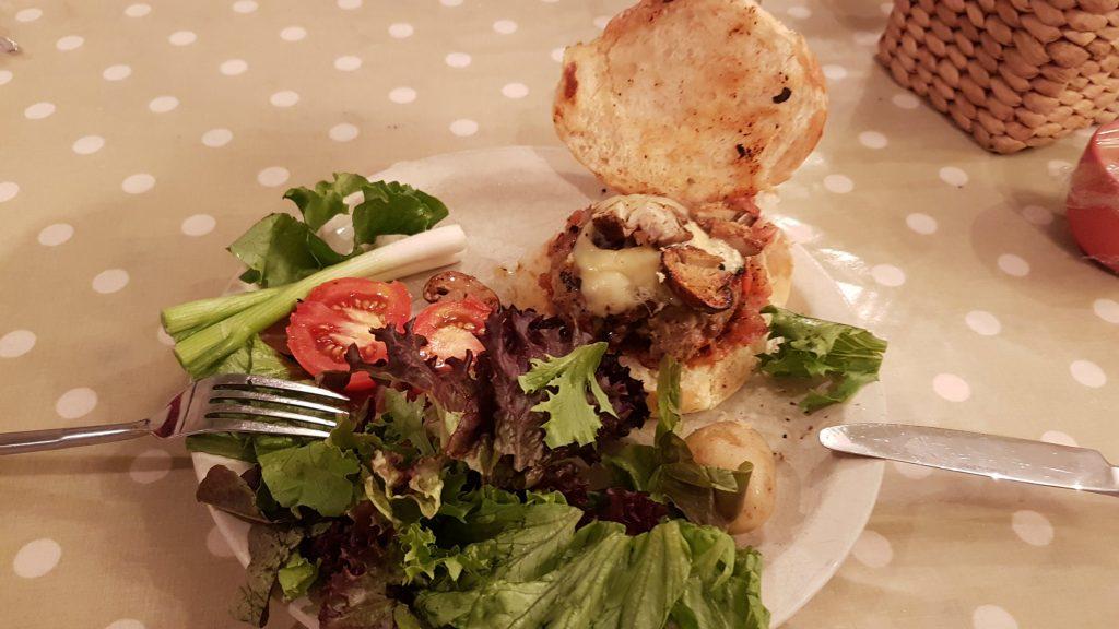 lamb and chorizo burger