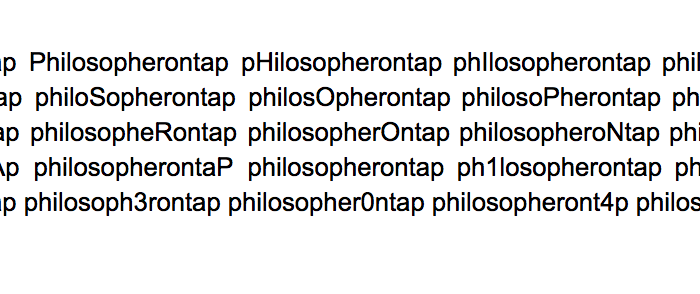 philosopherontap the options