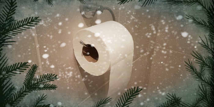 The correct way to hang a loo roll – Christmas special