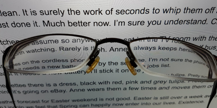 My specs need a clean