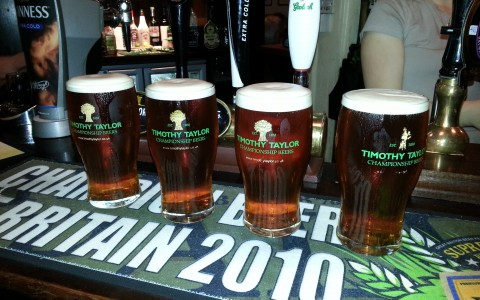 4 pints of Timothy Taylors Landlord