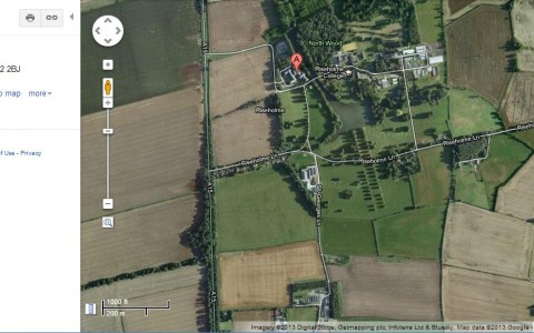 satellite view of Lincoln A2Z P2 Riseholme Park